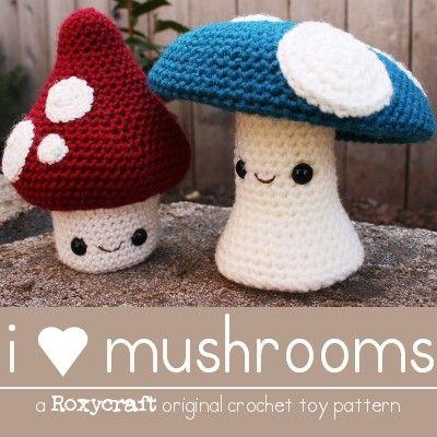 Mushrooms, Amigurumi and Amigurumi patterns on Pinterest