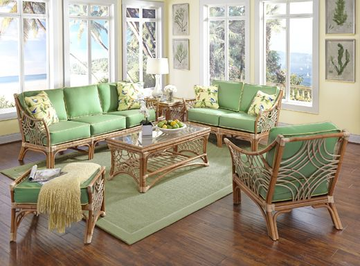 Rattan And Wicker Living Room Furniture Sets | Living Room Chairs
