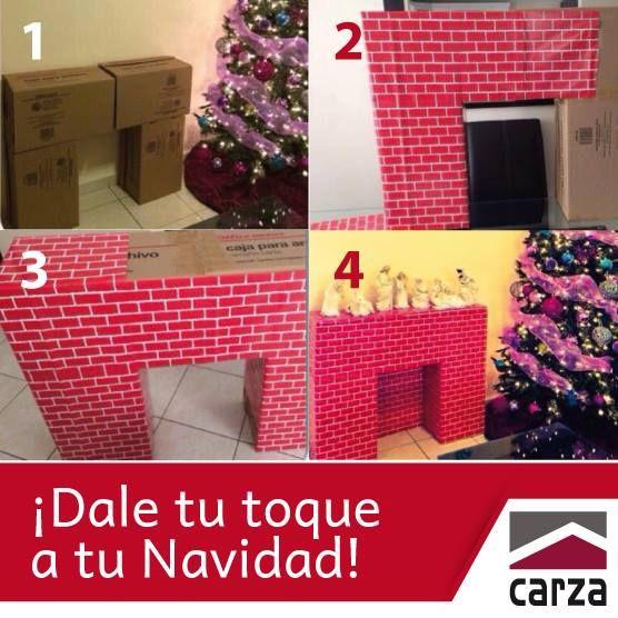 Te presentamos la sencilla manera de decorar tu casa - Chimeneas decoradas para navidad ...