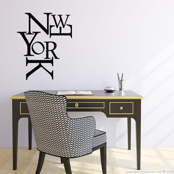 Stickers muraux Pays et Villes - Sticker New York composition | Ambiance-live.com
