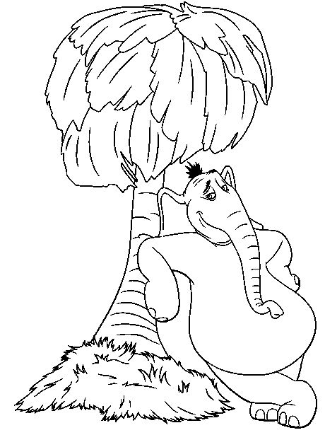Horton hears a who coloring page | Crafts for Kids to make ...