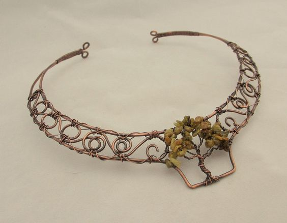 Wire Wrapped Tree of Life Collar Necklace. $65.00