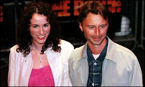 Robert Carlyle  and his wifr