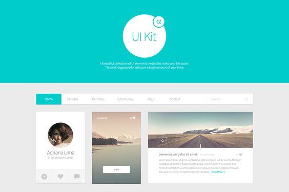 Alpha UI Kit ~ Web Elements on Creative Market