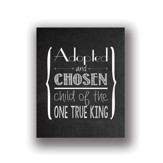 Adopted And Chosen Chalkboard Sign 8x10 by frameworthyprints