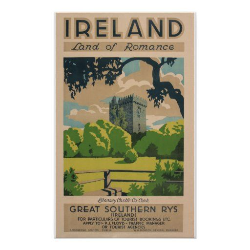 Ireland Vintage Travel Poster Zazzle Com In 2020 Vintage Travel Posters Travel Posters Vintage Travel