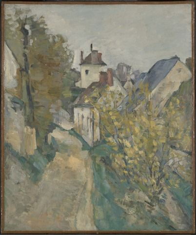 The House of Dr. Gachet in Auvers-sur-Oise, 1872–73. Óleo sobre tela, 61.6 x 51.1 cm. Obra de Paul Cézanne. Encontra-se em Yale University Art Gallery, New Haven, Connecticut - EUA.