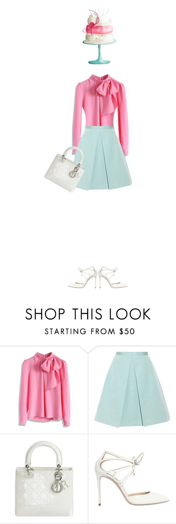 """""""Happy Brithday to Me"""" by polylana ❤ liked on Polyvore featuring Chicwish, TIBI, Christian Dior and Casadei"""