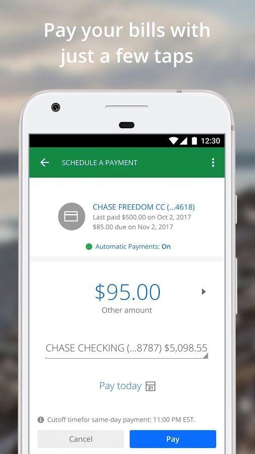 Chase Mobile Skrinshot Mobile App Chase Chase Freedom