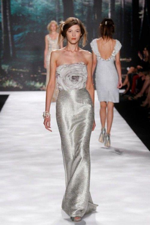Vestido de nova 'flor de prata' – uma inspiração via Badgley Mischka rtw Primavera 2013