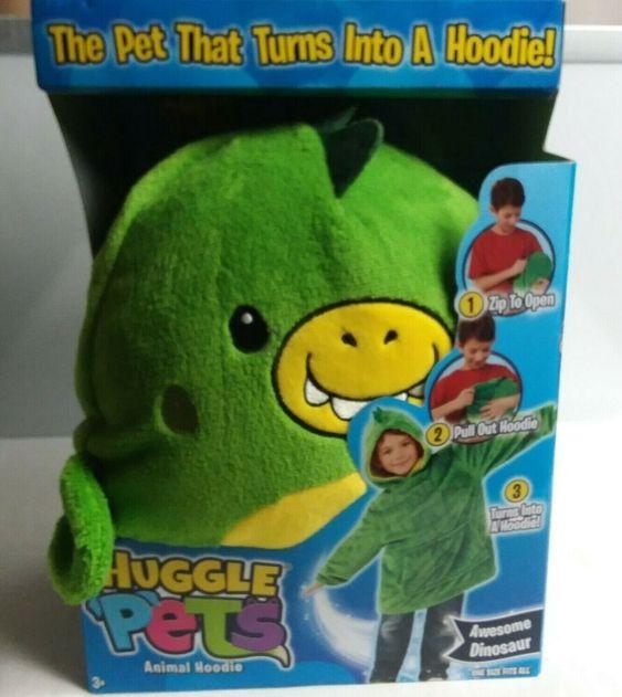 Huggle Pets Animal Hoodie Rex Saurus The Dinosaur Green Children 3 11 Years Ontelproducts Everyday In 2020 Animal Hoodie Dinosaur Dinosaur Stuffed Animal