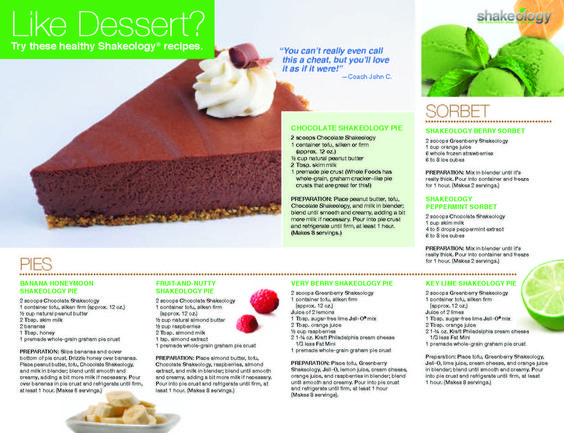 Make healthy desserts with 70+ superfoods! Print it for your fridge.