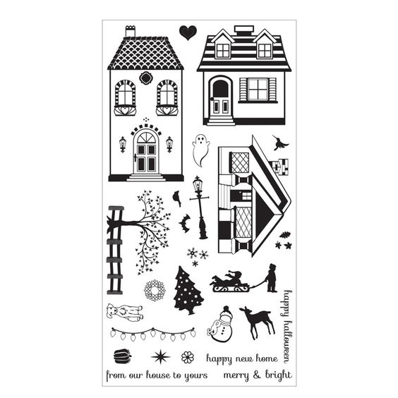 Happy Home Clear Stamp designs