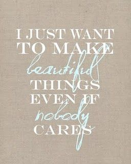 Love this saying.