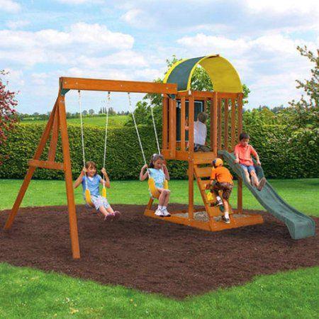 kidkraft ainsley wooden swing set