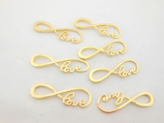 6pcs Silver/Gold Plated Accerrories Number 8 Shape Love Alphabet DIY Connector Charm Pendant Fashion Jewelry Accessory WC42
