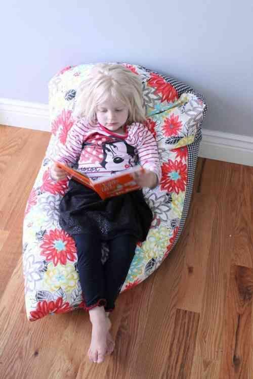 pouf enfant : fauteuil poire d'enfant pour lecture