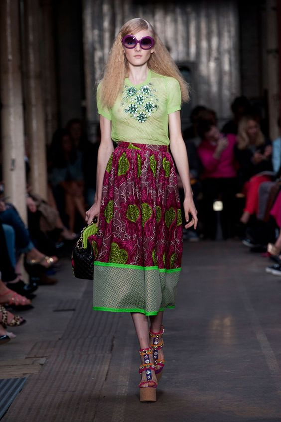 MOSCHINO CHEAP & CHIC SPRING 2013 ANKARA INSPIRED COLLECTION | CIAAFRIQUE ™ | AFRICAN FASHION-BEAUTY-STYLE