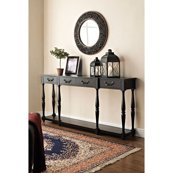 Powell Furniture 158-534 Drawers Console in Black