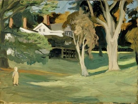 Katie in front of House. Fairfield Porter. Circa 1951.