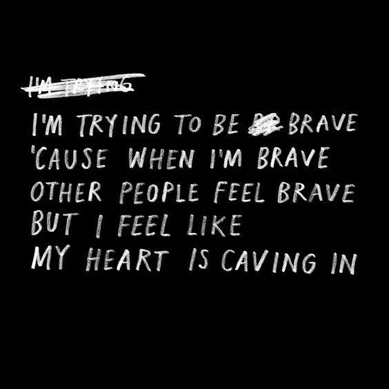 Caving In by Kimya Dawson. I'm trying to be brave 'cause when I'm brave other…