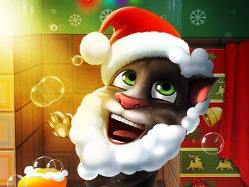 لعبة القط توم المتكلم عيد الميلاد Talking Tom Christmas Talking Tom Jigsaw Games Christmas