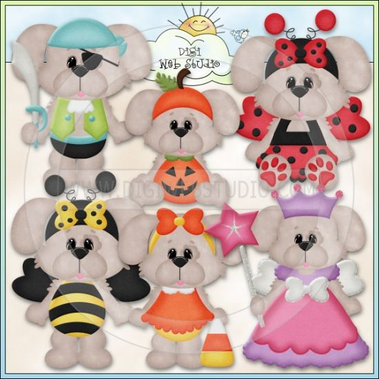 Halloween Costume Dogs 1 - Excl. Kristi W. Designs Clip Art : Digi Web Studio, Clip Art, Printable Crafts & Digital Scrapbooking!