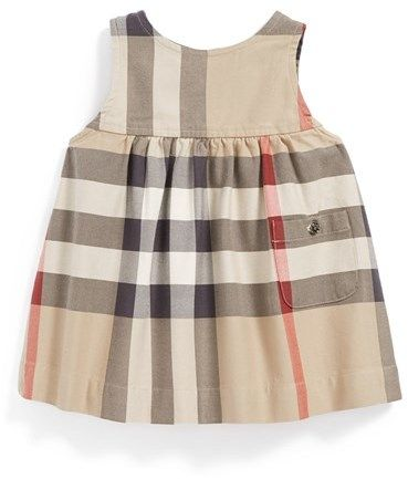 Burberry Sleeveless Check Dress (Baby Girls) OMG baby Burberry! Love it!