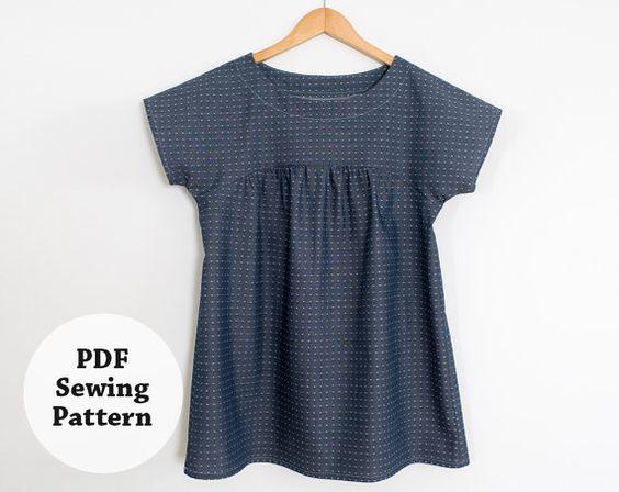 Ryan Top PDF-Schnittmuster Damenbekleidung von whitneydeal auf Etsy