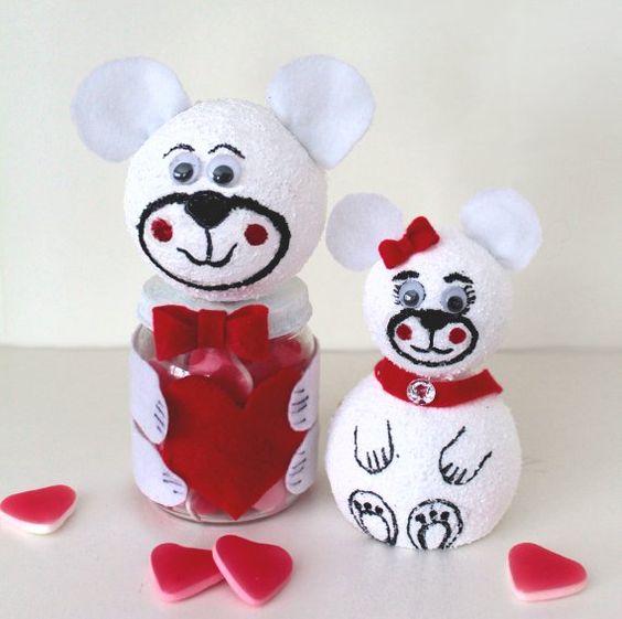 DIY Geschenkglas, Basteln Mit Kindern, Valentinstag