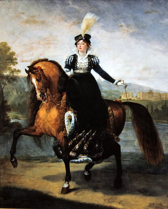 Equestrian portrait of Catherine of Wurtemberg by Antoine-Jean Gros 1810-20: