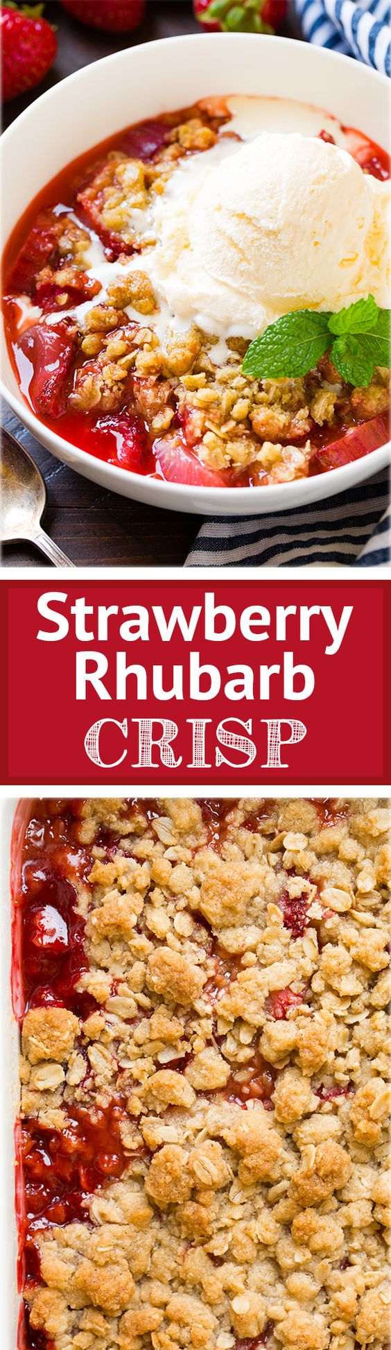 Strawberry Rhubarb Crisp | Recipe | Strawberry Rhubarb Crisp, Rhubarb ...