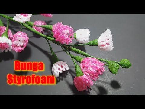 Memanfaatkan Styrofoam Atau Busa Pembungkus Buah Menjadi Bunga