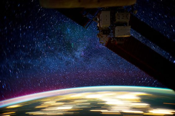 View from the ISS at Night by Knate Myers. Every frame in this video is a photograph taken from the International Space Station. All credit goes to the crews on board the ISS.