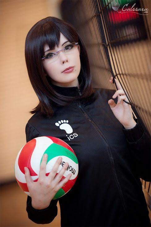 Shimizu Kiyoko cosplay from Haikyuu!!, via Pinterest