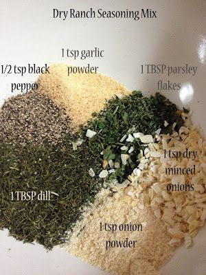 Recipe for Dry Ranch Seasoning Mix.  Look under the recipe tab on the website and scroll down past several recipes before you find this.