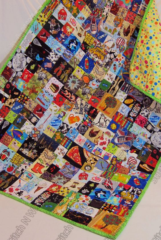 A personal favorite from my Etsy shop https://www.etsy.com/listing/265662476/childrens-i-spy-quilt-matching-my-look