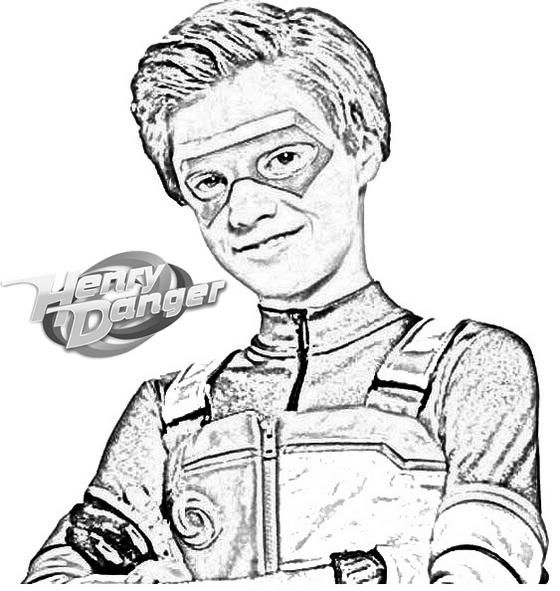 Fun Henry Danger Coloring And Drawing Page With Images