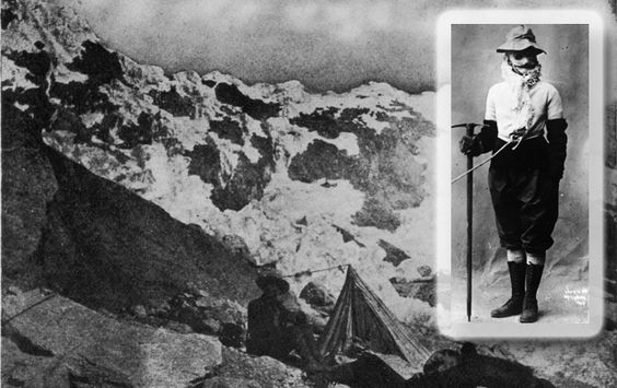 At the age of 44, college professor and lecturer Annie Smith Peck decided to take up mountain climbing, becoming the third woman in history to scale the Swiss Matterhorn—and the first to do so wearing pants, instead of a skirt. In 1908, at the age of 58, she became the first person to ascend Mount Huascaran in Peru. She made her final ascent, of New Hampshire's Mount Madison, at the age of 82.:
