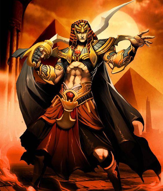Character Design History : Egyptian god of war fantasy art masterpieces
