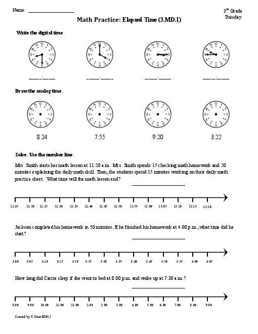 4th Grade Elapsed Time Worksheets Time Worksheets Elapsed Time Worksheets 3rd Grade Math Worksheets