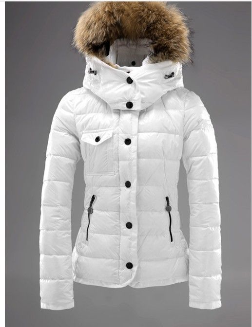 FREE SHIPPING BRAND 2013 winter fur collar down coat white duck women's medium-long down jacket outerwear $72.55