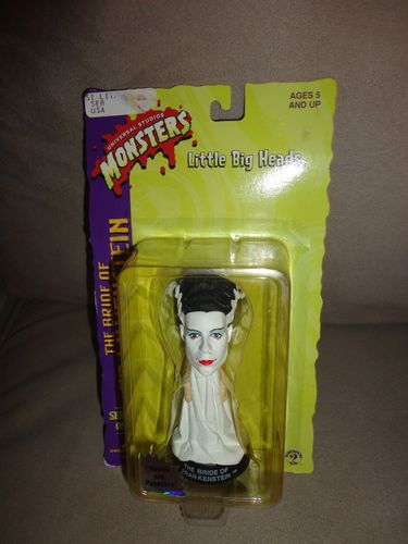 Mouse over image to zoom    Sell one like this  New Little Big Heads Bride Frankenstein Universal Studios Monsters Sr1 Halloween. Find me at www.dandeepop.com