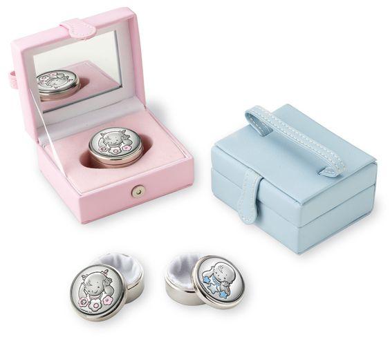 Italsilver: regalos para boda, bautizo y comuniones en plata: Estuche para los dientes del Ratoncito Perez, para niño y niña.