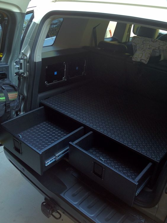 Rear Cargo Drawer Build - Toyota FJ Cruiser Forum - love this idea for my jeep