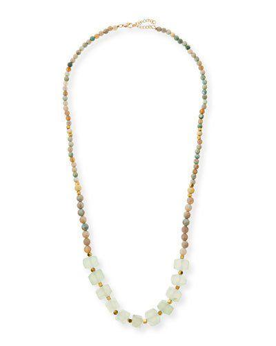 Beaded Single-Strand Necklace, Mint