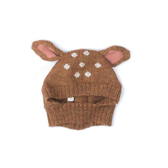 Oeuf NYC Knit Kids Baby Animal Hat Fox