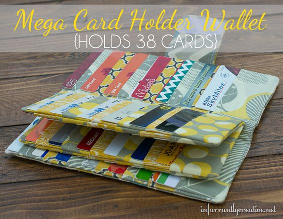 Mega Credit Card Wallet {Sewing Tutorial} may need to try this except make a place for cash and coins in the middle instead