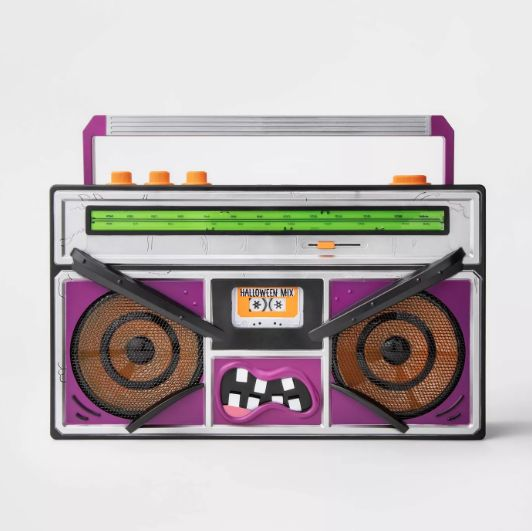 Halloween boombox's speakers