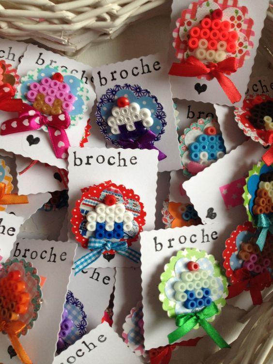 Miam miam des cupcakes en perles à repasser ! Hama beads - dekoration für küche